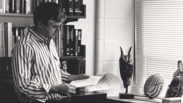 Dr. Max Essex in his office circa 1996