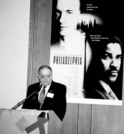 Vincent McCarthy introduces the movie, Philadelphia.