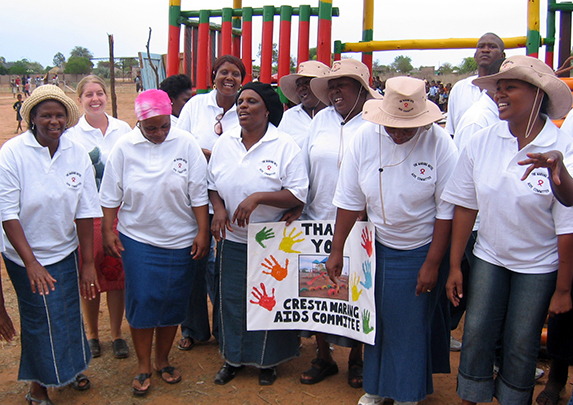 HIV/AIDS support group in Mokubilo