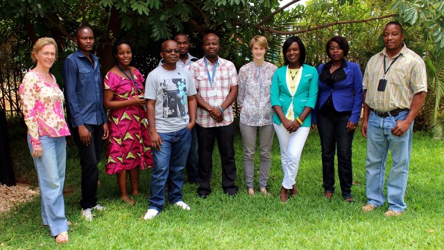 Dr. Virginia Bond and members of the Zambart social science team