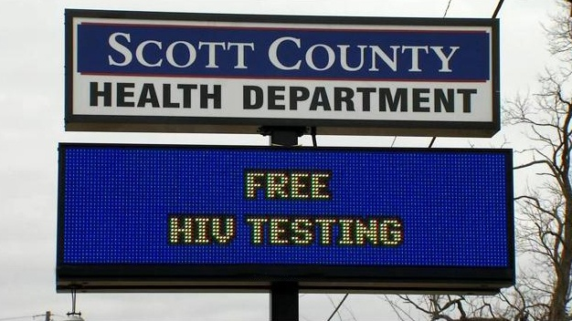 Health Department Sign: Free HIV Testing