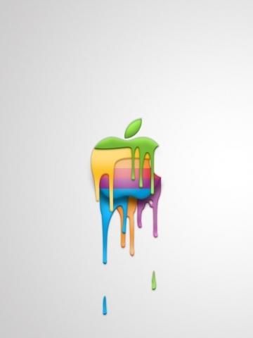 Ed Hardy Wallpaper For Iphone Melting Apple Logo Wallpaper Iphone Blackberry