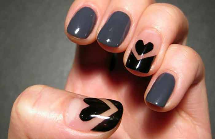 Blackheart Cool Nail Designs For Short Nails