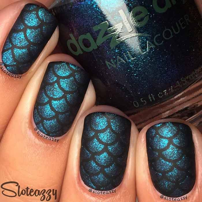 Dark Fantasy Nail Design For Short Nails