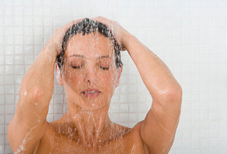 woman in shower-KMSRAJ51