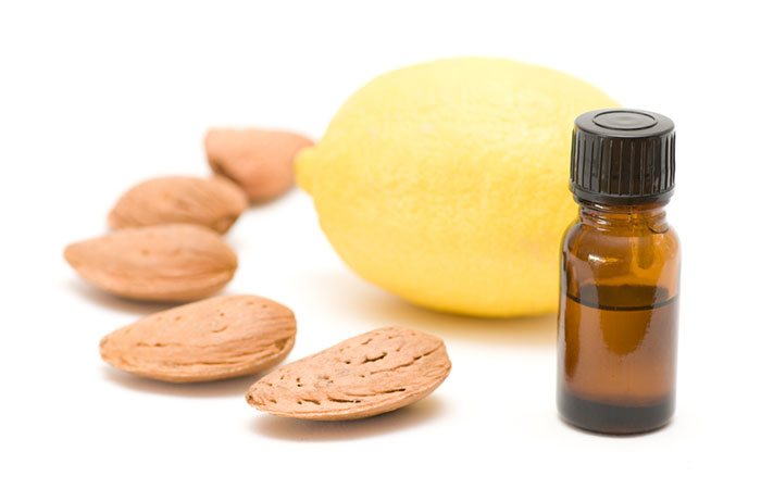 Almond Oil and Lemon Drops For Soft Pink Lips