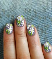 flower nail art - simple and easy