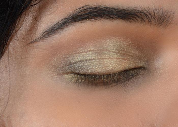 Gold Eye Makeup Tutorial - Look After Concealing