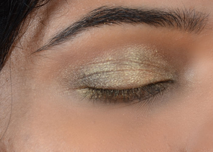 Gold Eye Makeup Tutorial - Look After Concealing