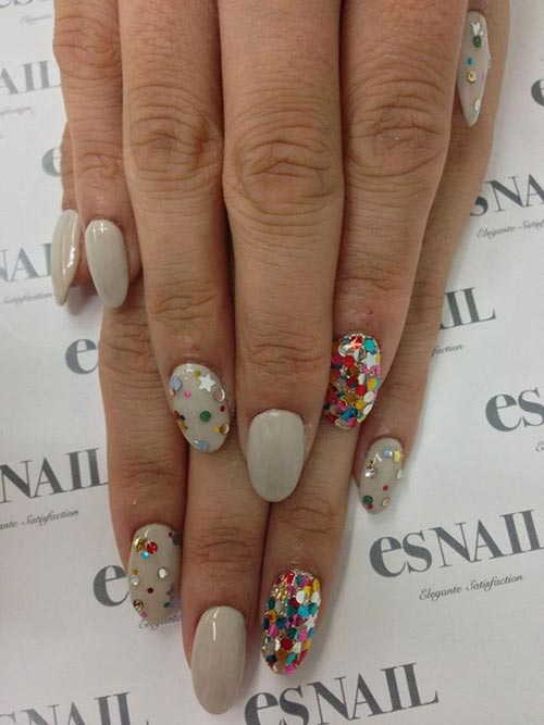 Colorful 3d Sequin Nail Art