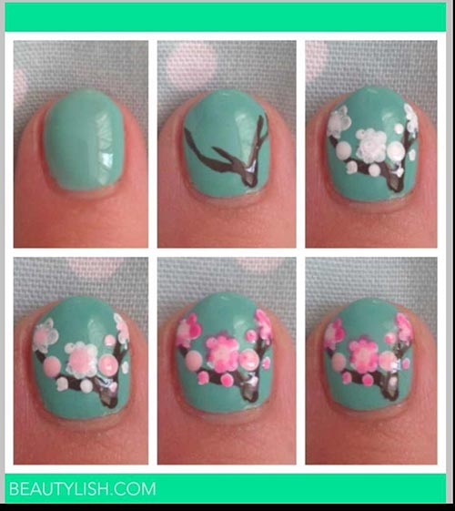 Beautiful 3d Nail Art Tutorials 25 Embossed Spring For Short Nails