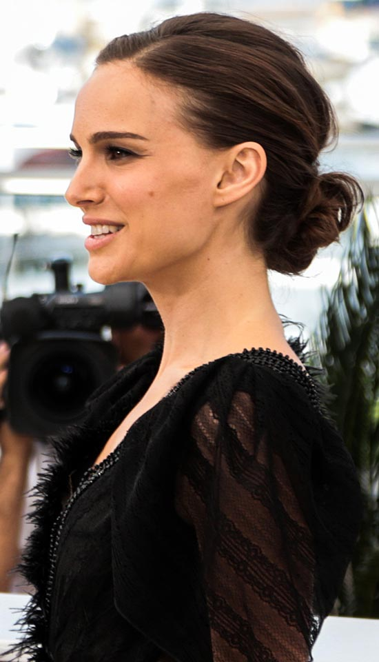 Image result for low messy chignon hair celebrity
