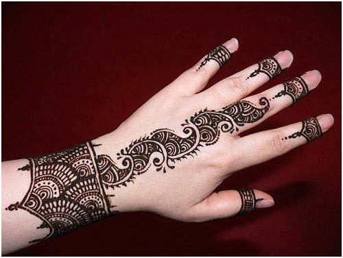 Simple Arabic Mehndi Designs For Hands Frontside
