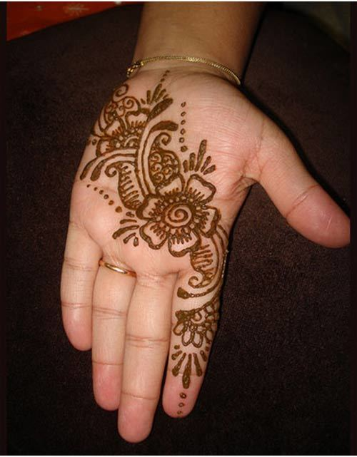 Simple Arabic Mehndi Designs For Left Hand Back Side