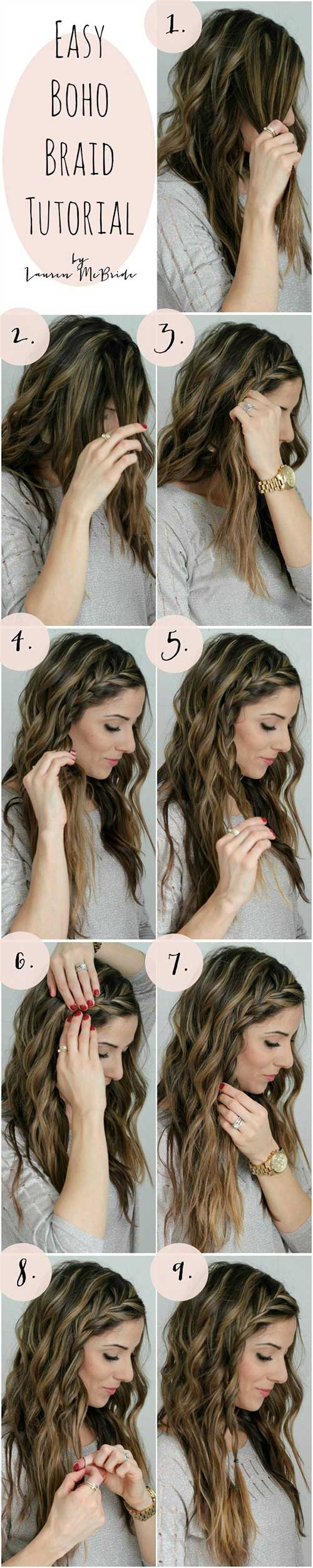 7. Easy Boho Braid