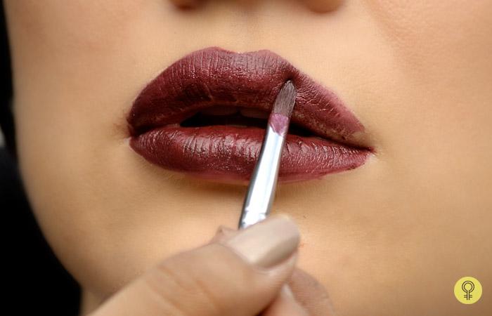 thin lip brush