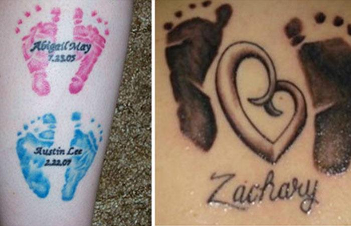 Footprint Diamonds Tattoos