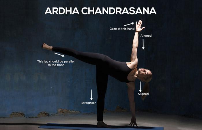 Image result for Ardha Chandrasana