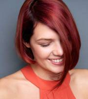hairstyles short red