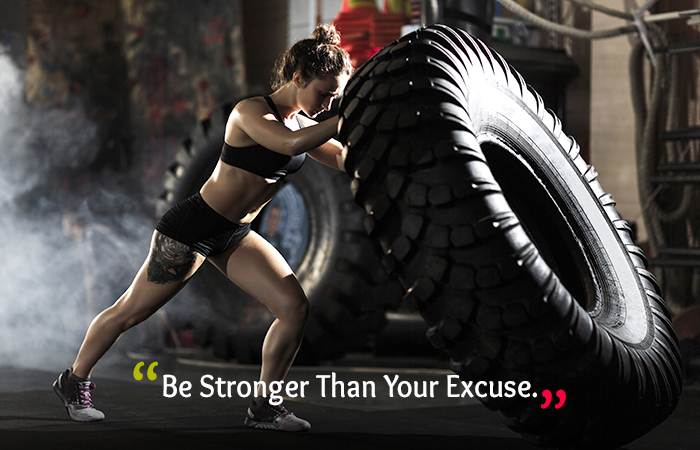 Motivational Quotes for Weight Loss - Be Stronger Than Your Excuse