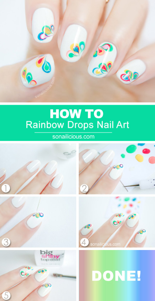 Top 10 Rainbow Nail Art Design Tutorials