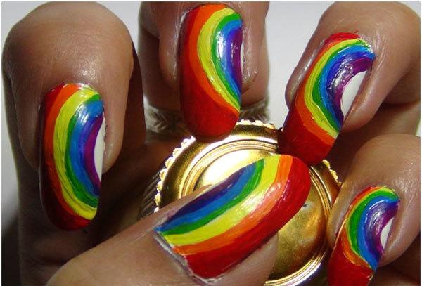 Rainbow Nail Art Tutorials 3
