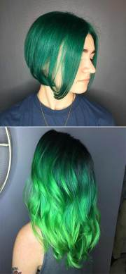 green hair colour products