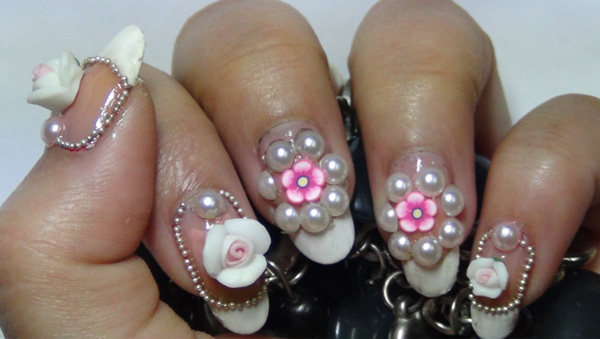 Get Ations Easiest 3d Nail Art Acrylic Tutorial Flowers Step By For Beginners