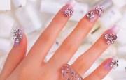 beautiful rhinestone nail
