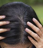 simple ways cover gray hair