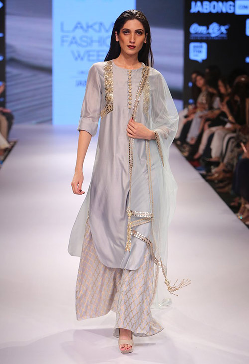9 Modern  Stylish Silver Salwar Suits For Women  Styles