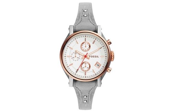 Round Analog White Dial Watch