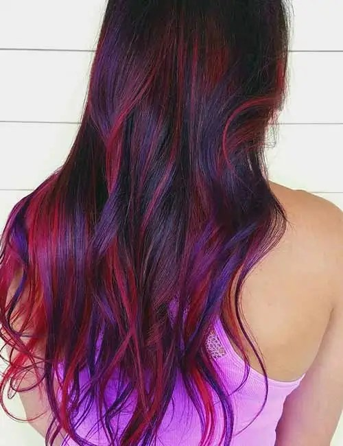 30 Pink Purple Highlights Hairstyles Hairstyles Ideas Walk The
