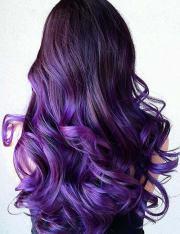 breathtaking purple ombre hair