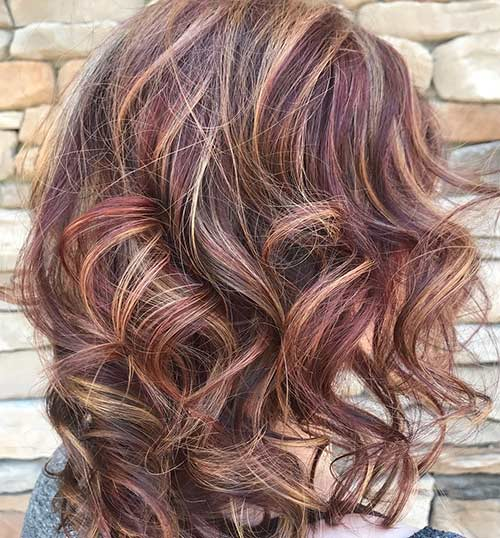 Red Brown Hair Highlights