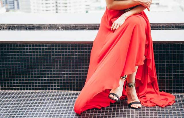 3. Wriggling Into Long Skirts
