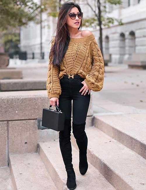 6. Oversized Sweater And Denims