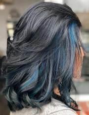 amazing blue black hair color