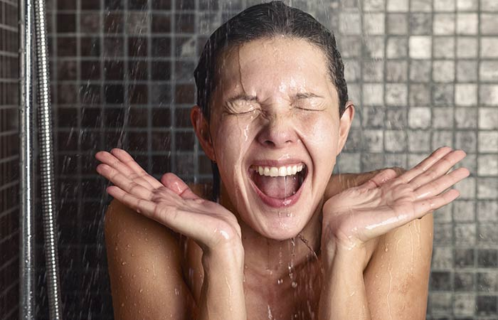 Take A Shower With Lukewarm Or Cold Water