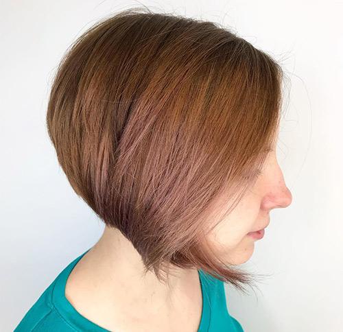 Brunette Curved Bob
