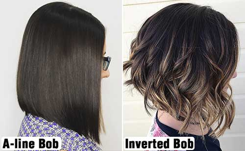How To Distinguish Between An Inverted Bob And An A-line Bob