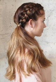 side braid hairstyles - step-step