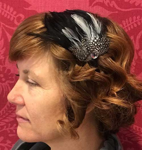 The Feathered Barrette