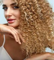 surreal curly blonde hairstyles