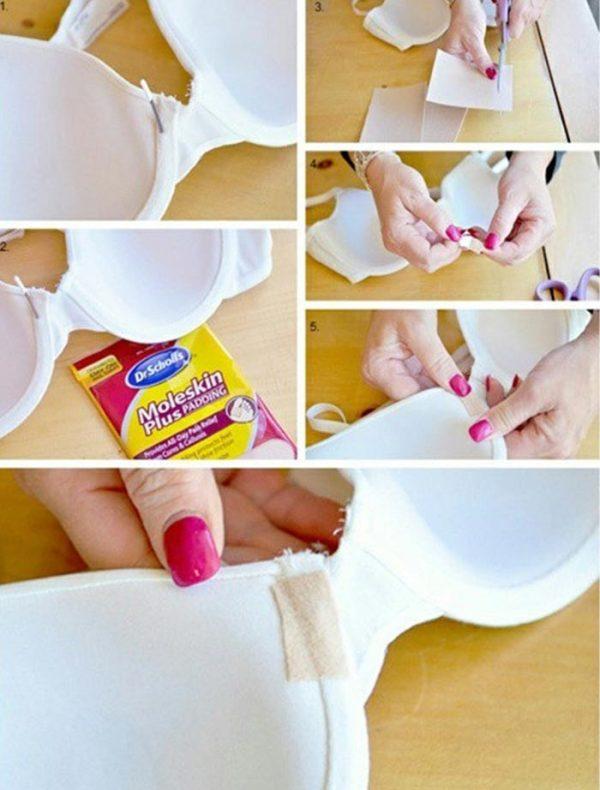 Make Use Of Moleskin To Fix The Underwire Bras