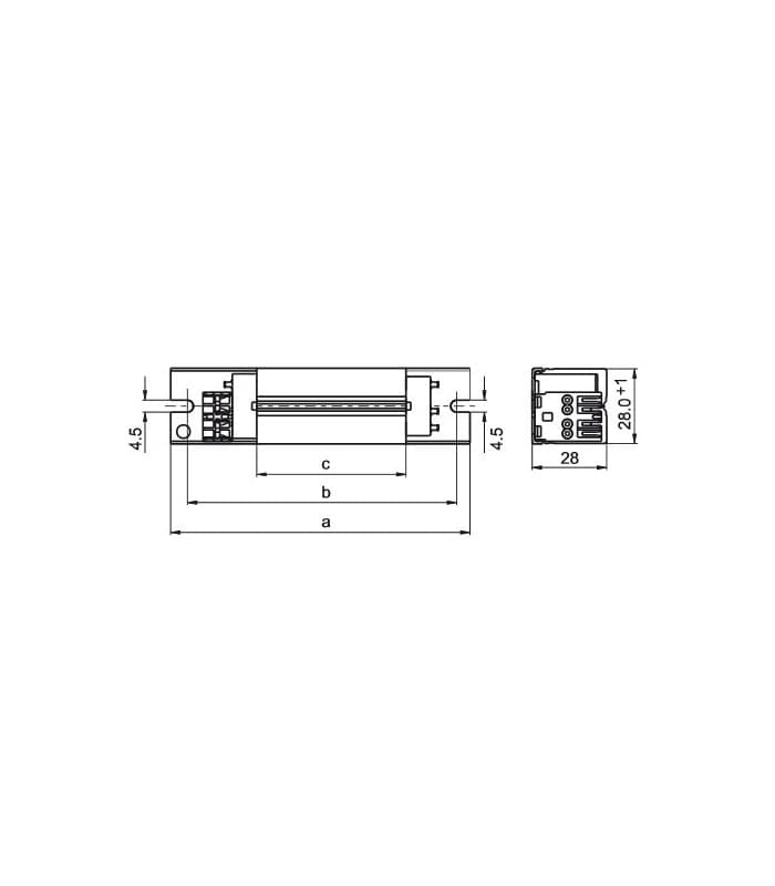Vossloh Ballast LN13.134 230V 50Hz T5 TC-S TC-D TC-DD TC-T