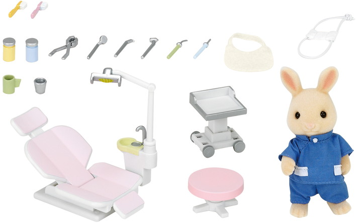 reclining club chair wheelchair in french country dentist set|calico critters