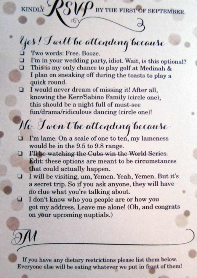 Funny Wedding Invitation Ideas 17