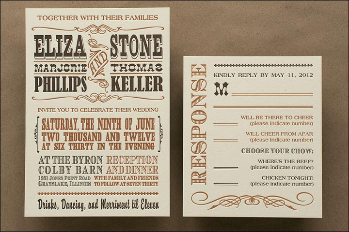 Informal Wedding Invitation Wordings Starring Together Forever