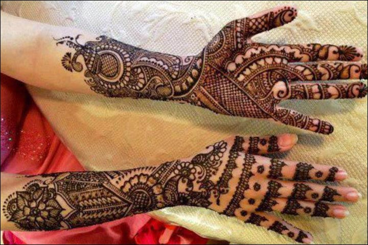 Mehndi Designs Simple Full Hand Front Side